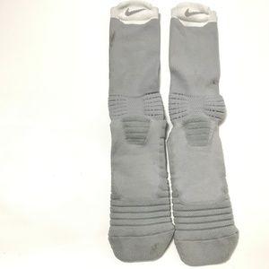 Nike Socks Men's Winter Basketball Crew Socks Gray